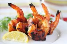 Shrimp wrapped with bacon